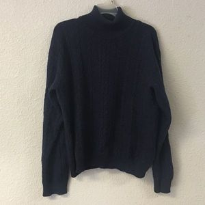 Oda of Norway Navy Cable Knit Sweater 100% Wool